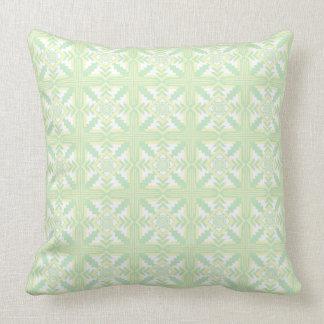 Light Green Southwestern Throw Pillow