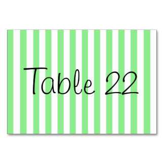 Light Green Stripes Card