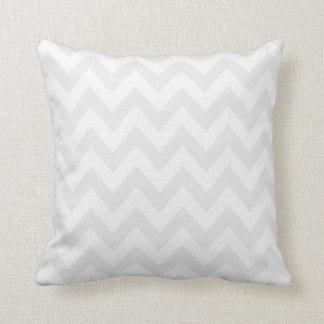 Light Grey & White Chevron Stripes Cushion