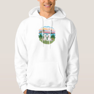 Light House - Two Bichon Frise Hoodie