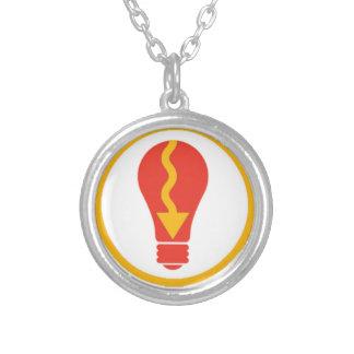 Light It Up Round Pendant Necklace