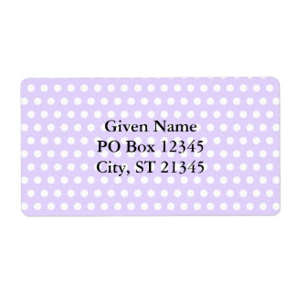 Light Lavender with White Polka Dots Shipping Label