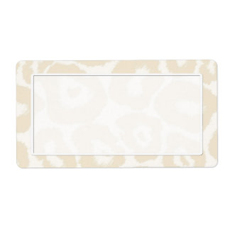 Light Leopard Print Shipping Labels
