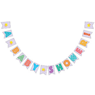 LIGHT LILAC MULTICOLORED ☆ A BABY SHOWER ☆ SIGN