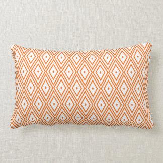 Light Orange and White Diamonds Throw Cushions