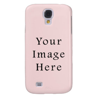Light Peachy Pink Color Trend Blank Template Galaxy S4 Case