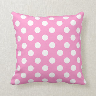 Light Pink And White Polka Dot Pillow Cushions