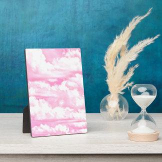 Light Pink Elegant Clouds Decor Plaque