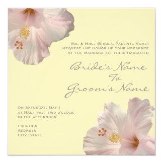 Light Pink Hibiscus Wedding Invitation