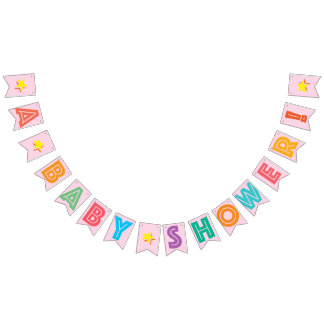 LIGHT PINK MULTICOLORED ☆ A BABY SHOWER ☆ FOR GIRL BUNTING
