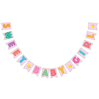 LIGHT PINK MULTICOLORED ☆ SWEET BABY GIRL ☆ SIGN