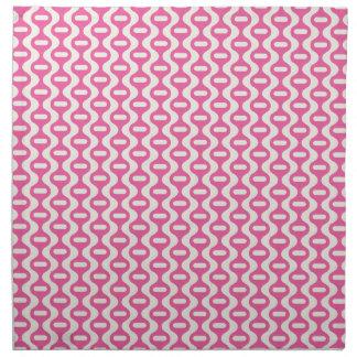 Light Pink Wavy Retro Pattern Napkin