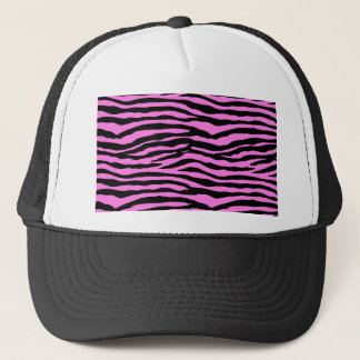 Light Pink Zebra Stripes Trucker Hat