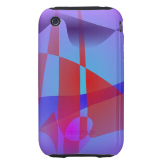 Light Purple and Red iPhone 3 Tough Cover