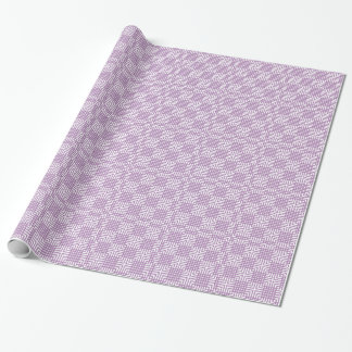 Light Purple And White Japanese Print Wrapping Paper