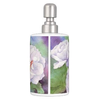 Light Purple Flowers Bathroom Set