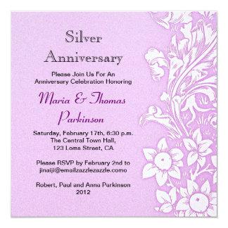 light purple wedding anniversary card