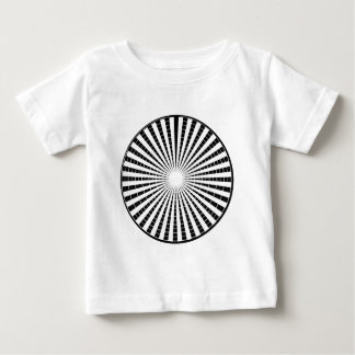 LIGHT Source - Black n White Sparkle Wheel Baby T-Shirt