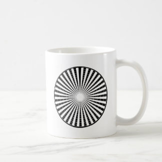 LIGHT Source - Black n White Sparkle Wheel Mug