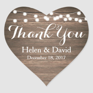 Light Strings Thank You Wedding Favour Stickers