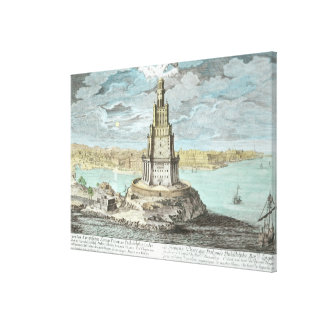 Lighthouse at Alexandria, built by Ptolemy the Gre Canvas Print