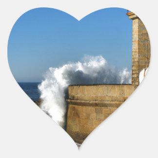 Lighthouse in Porto Heart Sticker