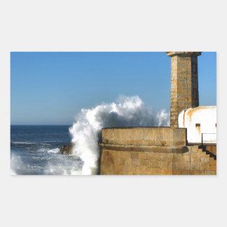 Lighthouse in Porto Rectangular Sticker