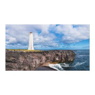 Lighthouse Malarrif Snæfellsnes Iceland Canvas Prints
