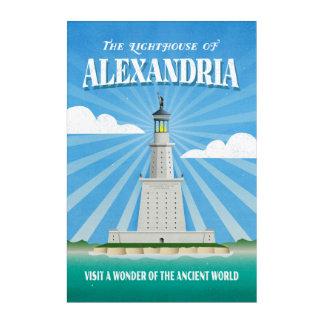 Lighthouse of Alexandria Travel Illustration Acrylic Wall Art
