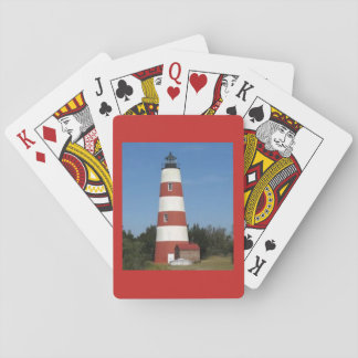 Lighthouse on a deck of playing cards