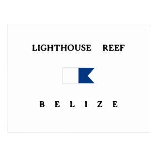 Lighthouse Reef Belize Alpha Dive Flag Postcard