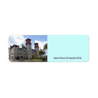 Lightner Museum Return Address Label
