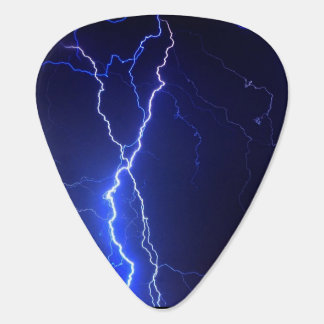 Lightning at night design guitar pick