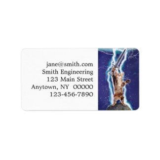 Lightning Cat Address Label