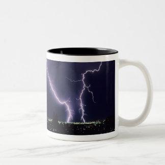 Lightning over Salt Lake Valley, Utah. Mug