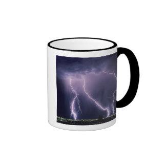 Lightning over Salt Lake Valley, Utah. Ringer Mug
