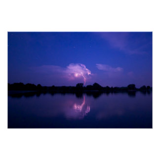 Lightning Over The Chesapeake Posters