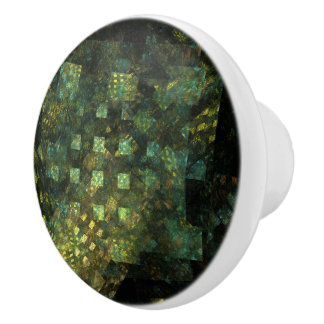 Lights in the City Abstract Art Ceramic Knob