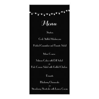 Lights Modern Wedding Menu Rack Cards