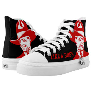 LIKE A BOSS High Top Printed Shoes