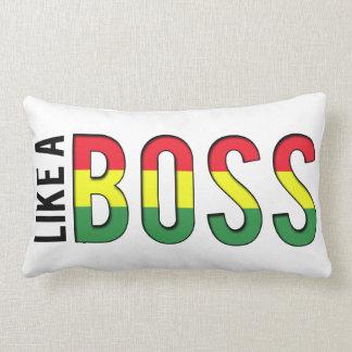 LIKE a BOSS reggae colors Lumbar Cushion