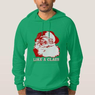 """LIKE A CLAUS"" Christmas Sweater Hoodie (Green)"
