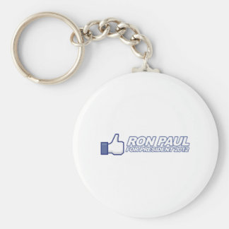 Like Ron Paul - 2012 election president vote Basic Round Button Key Ring