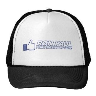 Like Ron Paul - 2012 election president vote Mesh Hat