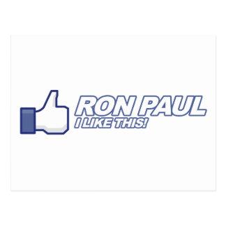 Like Ron Paul - 2012 election president vote Postcard
