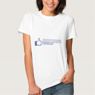 Like Ron Paul - 2012 election president vote T-shirts