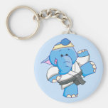 Lil Blue Elephant Karate Keychain