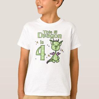 Lil Dragon 4th Birthday T-Shirt