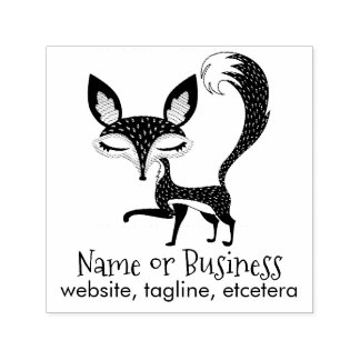 Lil Fox Personalised Text Self Inking Stamp