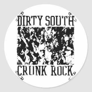 "Lil Jon ""Dirty South Crunk Rock"" Classic Round Sticker"